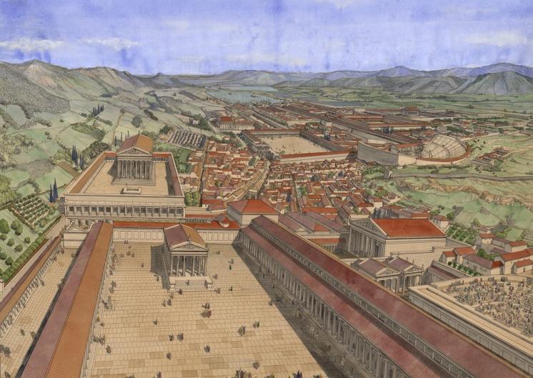 Restitution du sanctuaire d'Éphèse par J. C. Golvin